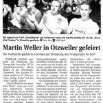 Martin Weller in Otzweiler gefeiert, Otzweiler, 08.04.2017